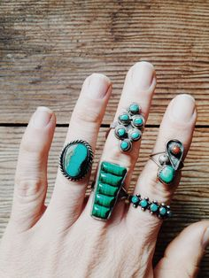vintage turquoise, coral and malachite