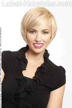 Ladies, Let's Talk Bobbed Hairstyles -Cute short cut & blonde highlights color