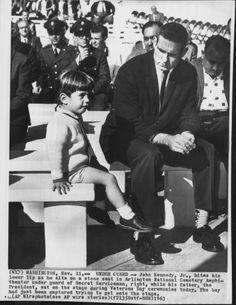 JFK JR AND SA BOB FOSTER 11/11/63