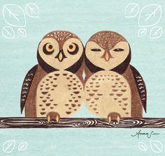 Wall Art by Anna See | Spotted Owl | CrudeArea.com