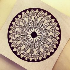 #мандала #графика #mandala #liner #ornament #pattern #орна…   Flickr
