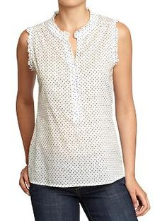 Women's Printed Ruffled Tops | Old Navy $22 (size xxl)