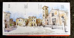 Urban Sketchers: Sketcher-in-residence in Civita di Bagnoregio
