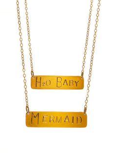 Mer Bar Necklace | Kate Davis Jewelry $80