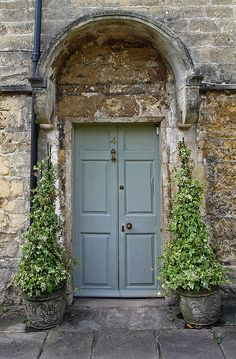 Front door by Neosnaps, via Flickr...this gray- green would look good with dark brick, I think