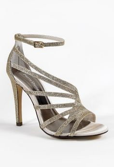 High Heel Multi Strap Glitter Sandal from Camille La Vie and Group USA