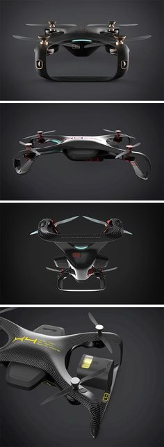 The Racing Drone concept is all about looking badass, and slicing through the air with absolute speed.