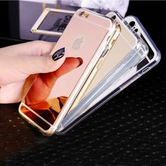 1PC Luxury Mirror Electroplating Soft Clear TPU Cases For iphone 6 6S 4.7inch / 6 6S Plus 5.5 inch 5 5S Back Cover ESJK1341 iPhone Hrvatska - Najbolja online kupovina za vas ! | iPhone.hr