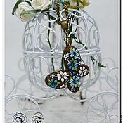 """Украшения ручной работы. Ярмарка Мастеров - ручная работа Кулон """" Бабочка в цветах"""". Handmade."""