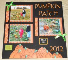 The Pumpkin Patch Scrapbooking Layout