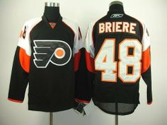 """Danny Briere #48 NHL Philadelphia Flyers Black/white Hockey Jersey Sz50 by osca. $59.50. Our store offers different kinds of jerseys. they are of high quality and low price. """"Customers highest, reputation first """" is our principle. cheap NHL jerseys will also never let you down.  Body: 100% nylon diamondback mesh  Collar: 100% polyester flat knit rib Officially licensed All suitable sizes and colors The players' numbers and names are sewn on the backs color:black..."""