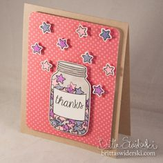 Lawn Fawn Summertime Charm stamps and dies, Bright Side Paper _ Thanks Jar Full of Happiness by Britta Swiderski-1