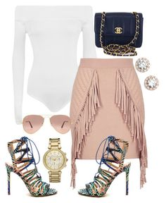 """""""Feelin' Peachy"""" by church-fashion on Polyvore featuring WearAll, River Island, Chanel, Nordstrom, Ray-Ban and Michael Kors"""