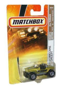 Mattel Matchbox 2007 MBX All Terrain 1:64 Scale Die Cast Metal Car # 95 - Metallic Gold 2 Door Sport Utility Vehicle SUV Jeep Hurricane Concept by MBX. $7.99. Realistic Details. Age : 3+. Diecast Metal & Plastic Parts. 1/64 Scale. Mattel Matchbox 2007 MBX All Terrain 1:64 Scale Die Cast Metal Car # 95 - Metallic Gold 2 Door Sport Utility Vehicle SUV Jeep Hurricane Concept