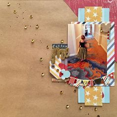 One last layout from this weekend's Spring Crop @paperissues ...Follow The Leader to create a layout. Boy, it was challenging just following the instructions and not knowing what you'd end up with. But I love it!! Just don't ask how many times I had to cut that triangle!! #scrapbooking #disneyscrappers #simplestories #paperissues
