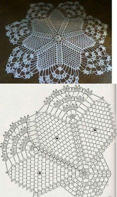 crochet Deniz by kari Crochet Dollies, Crochet Stars, Crochet Round, Thread Crochet, Irish Crochet, Crochet Stitches, Free Crochet Doily Patterns, Crochet Doily Diagram, Crochet Motif