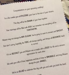 Sent from reader, Kristen: Hi Collin. I just wanted to share the frugal wedding gift I recently created for my cousin's wedding shower! I took a laundry basket, weaved a burlap ribbon throug… Bridal Shower Poems, Wedding Shower Gifts, Wedding Gifts, Wedding Cake, Low Budget Wedding, Diy Wedding Reception, Wedding Simple, Wedding Ideas, Green Wedding