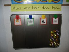 Good idea to use for graphing! I prefer it turned the other way in order to fit more students in a straight line. I can use the big oil drip pan from Wal Mart. First Grade Classroom, Classroom Setting, Classroom Setup, Future Classroom, Eyfs Classroom, Classroom Routines, Organization And Management, Classroom Organization, Classroom Management