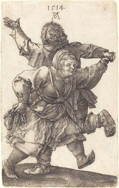 Peasant Couple Dancing, 1514 (engraving) - Albrecht Dürer