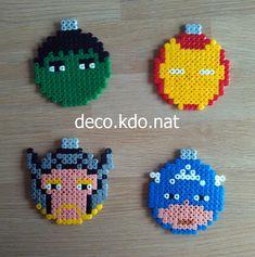 Avengers Christmas baubles  hama perler beads by Deco.Kdo.Nat