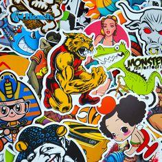 Xe Styling Doodle Sticker Bomb Graffiti Dán Ván Trượt Snowboard Xe Máy hành lý Xe Đạp Túi Phụ Kiện Đàn Guitar Decal