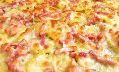 Papas al horno con queso y bacon. ¡Qué delicia, por favor!