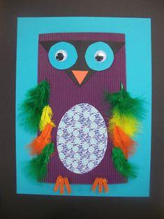 we heart art: mixed-media owls