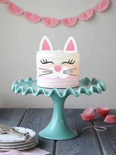 Kitty Cake Topper Set 1 Cake Topper Set ears, 2 eyelashes & 1 nose with whiskers piece) Size of ears: x Size of eyelashes: x Size of nose/whisker: x It will easily transform any homemade or store bought cake into a magical one! Create your own Birthday Cake For Cat, Girl Birthday, Birthday Parties, Birthday Cakes, Kitten Party, Cat Party, Cat Cake Topper, Cake Toppers, Girl Cakes
