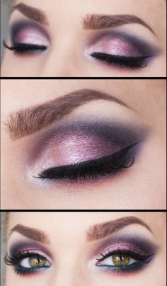 Beautiful purple eye makeup