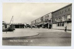 Town centre 1955 .... Corby Candle is on the right