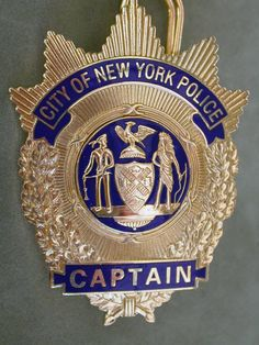 York City Police Captain shield, full size officerssecond type badge ...