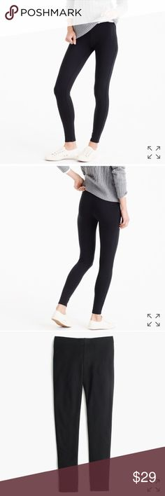 J. Crew Fleece-lined leggings black PRODUCT DETAILS These leggings are the coziest, most perfect-for-winter leggings around, thanks to the warm fleece lining. Bring on the cold-weather lounging and layering...  Viscose/elastane. Machine wash. Import. Item F8914. J. Crew Pants Leggings