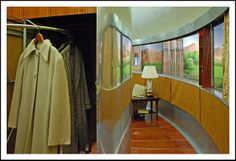 Buckminster Fuller's Dymaxion House in Henry Ford Museum by sjb4photos, via Flickr Yurt Living, Henry Ford Museum, Buckminster Fuller, Curtains, Alternative, Home Decor, Blinds, Decoration Home, Room Decor