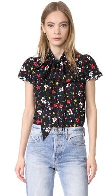 See by Chloe Printed Pussy Bow Blouse | SHOPBOP