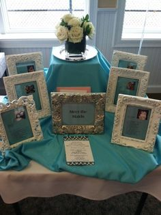 Meet The Maids Table at Bridal Shower