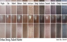 Looks like...Valerie!: Urban Decay Naked Palette - Swatches