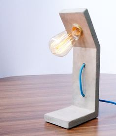 Reading Concrete Lamp by ConcreteEverything on Etsy