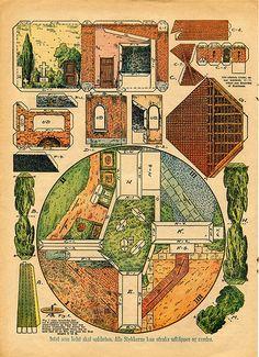 Maqueta de papel circular sobre la Burguesia
