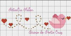 Kawaii Cross Stitch, Cute Cross Stitch, Cross Stitch Alphabet, Cross Stitch Flowers, Embroidery Leaf, Cross Stitch Embroidery, Embroidery Patterns, Cross Stitch Patterns, Cross Stitch Kitchen