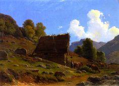 Knud Baade (1808-1879): Peasant's Hut, 1861