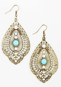 Glitz is It Earrings - Blue, Solid, Beads, Boho, Festival, Gold, White, Rhinestones, Wedding, Bridesmaid, Bride, Statement