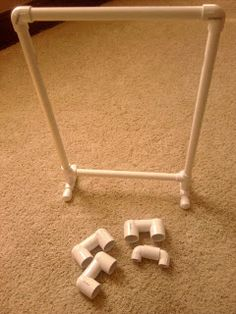 PVC Pipe stand DIY plans at First Grade and Fabulous