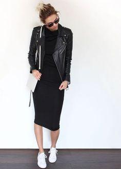 Bodycon leather jacket