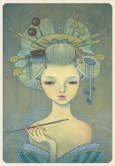 Beautiful Paintings by Audrey Kawasaki | Abduzeedo Design Inspiration & Tutorials
