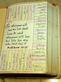 The best way to mark your Bible! Use colored pencils to mark your scripture in the corresponding color and place a small colored dot (available at office ...