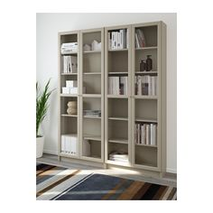 The Corner Ikea Billy Bookcase Hack Bookcase With Glass Doors, Glass Cabinet Doors, Glass Shelves, China Cabinet, Ikea Billy Bookcase Hack, Ikea Shelves, Billy Bookcases, Libreria Billy Ikea, Billy Oxberg