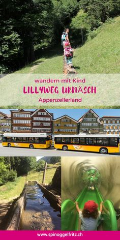 Discover in the article the family theme trail in Urnäsch in Appenzellerland. Family Theme, Projects For Kids, Switzerland, Places To See, Told You So, Hiking, Reading, Holiday, Travelling