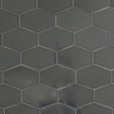 Stretch Hex Tile - Carbon - for the hearth