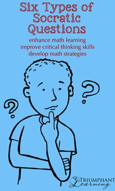 Using Socratic questions for math learning helps students develop critical thinking skills and math strategies. It is also a form of math narration. Thinking Strategies, Critical Thinking Skills, Teaching Strategies, Critical Thinking Activities, Avid Strategies, Math Teacher, Math Classroom, Teaching Math, Teaching Ideas
