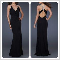 Sexy black evening dress
